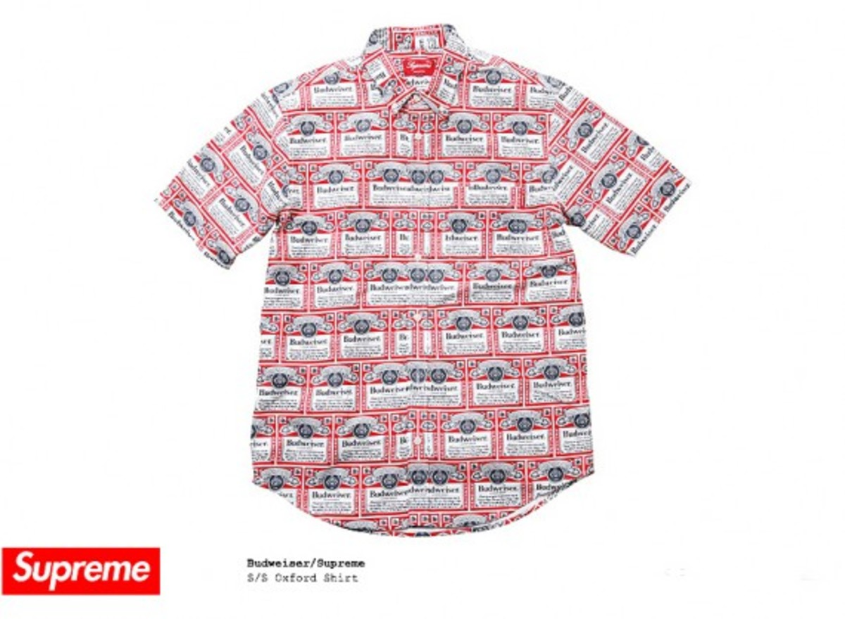 Budweiser x Supreme - Short Sleeves Oxford Shirt