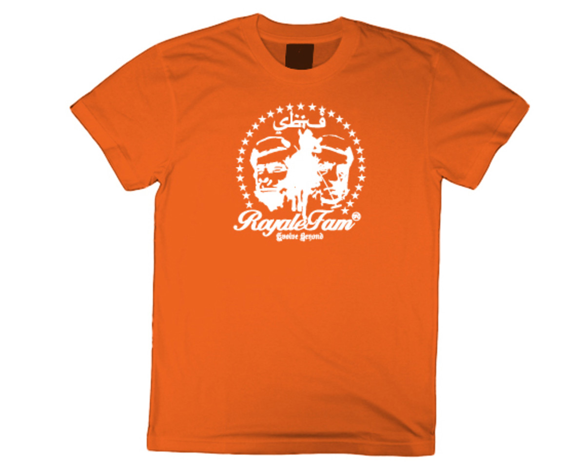 Royalefam - Original Hand Printed College T-Shirt - Syracuse (Away)