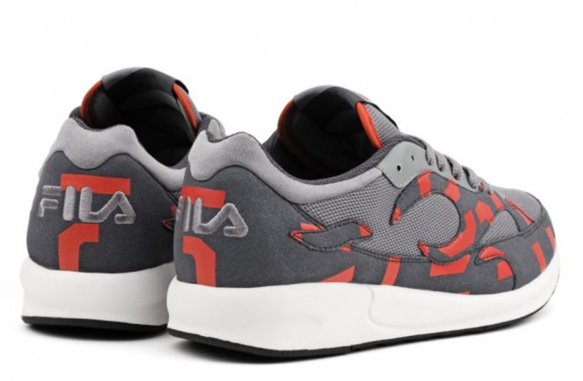 A.R.C. x FILA Fiamma Collection Grey - Fluorescent Red