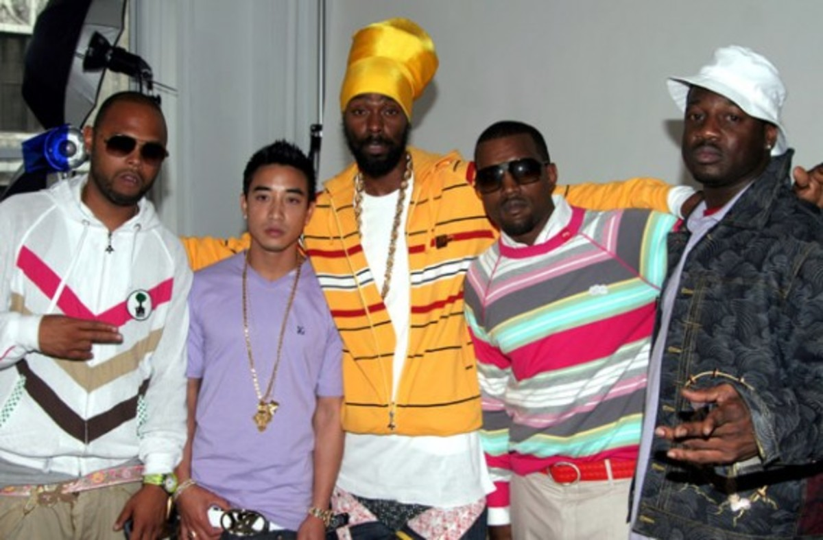 Woodie White, Jonas Bevacqua, Groovey Lew, Kanye West and Mike Bogard