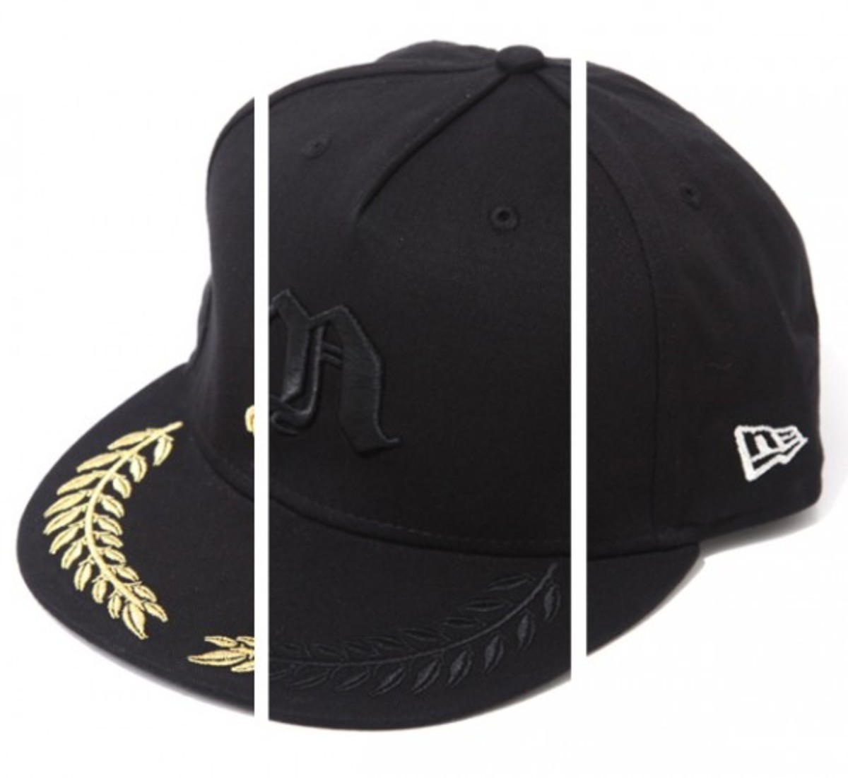 d1dcc1b69a5 NITRAID have deviated from the usual 59FIFTY fitted caps to produce the  military inspired snap back caps. Black wool body is accented by raised N  logo ...
