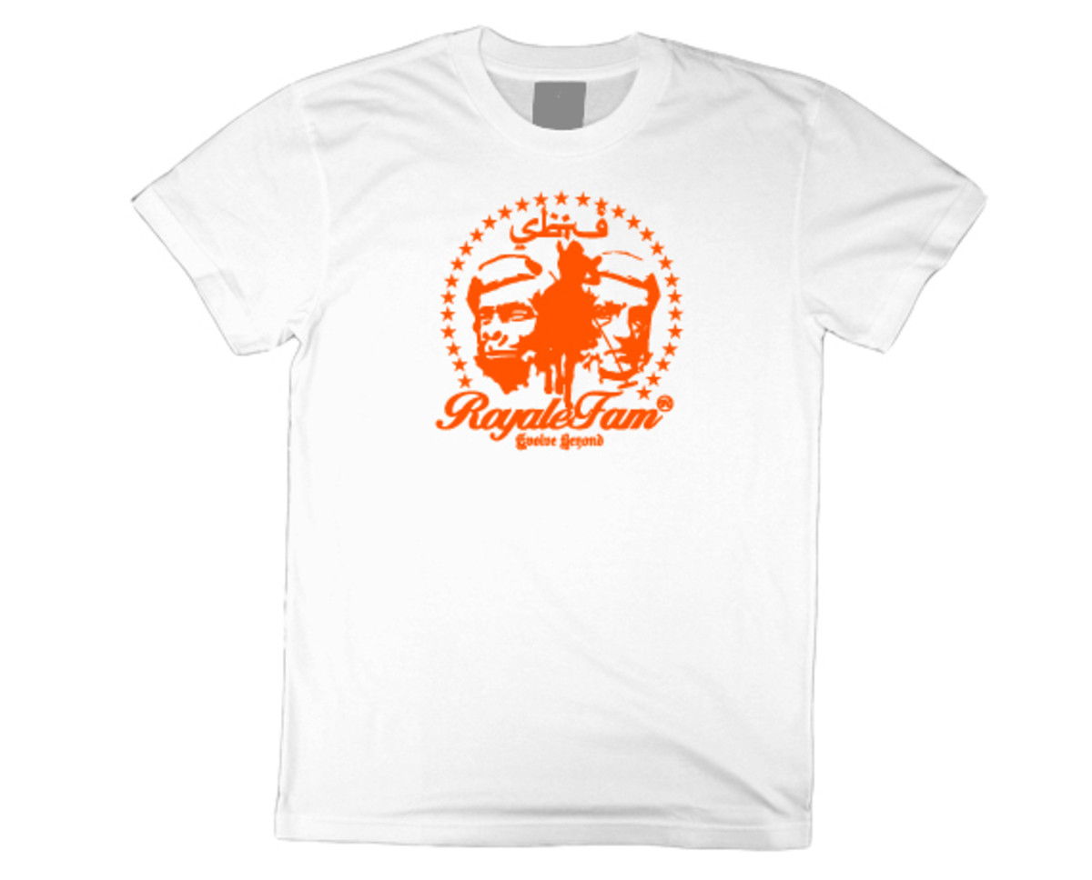 Royalefam - Original Hand Printed College T-Shirt - Syracuse (Home)