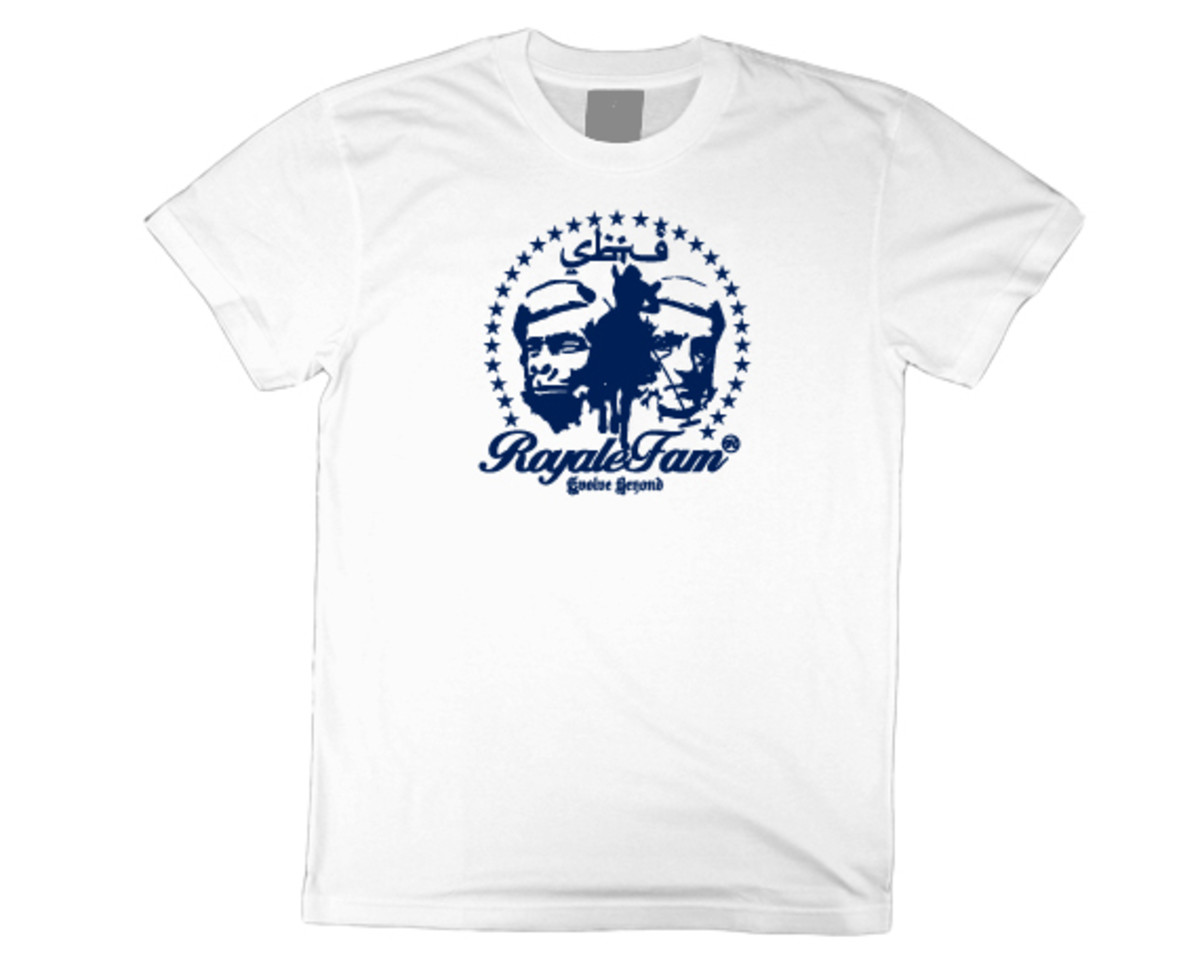 Royalefam - Original Hand Printed College T-Shirt - Arizona (Home)