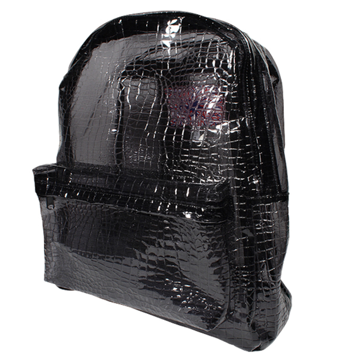 PHENOMENON - PVC Clear Backpack - Black (Crocodile)