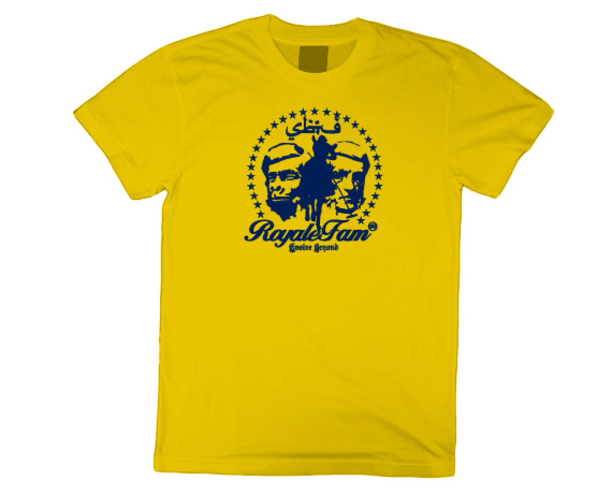 Royalefam - Original Hand Printed College T-Shirt - Michigan (Home)