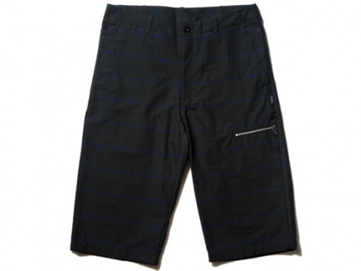 Gallery1950 - Side Zip Check Shorts (Front)