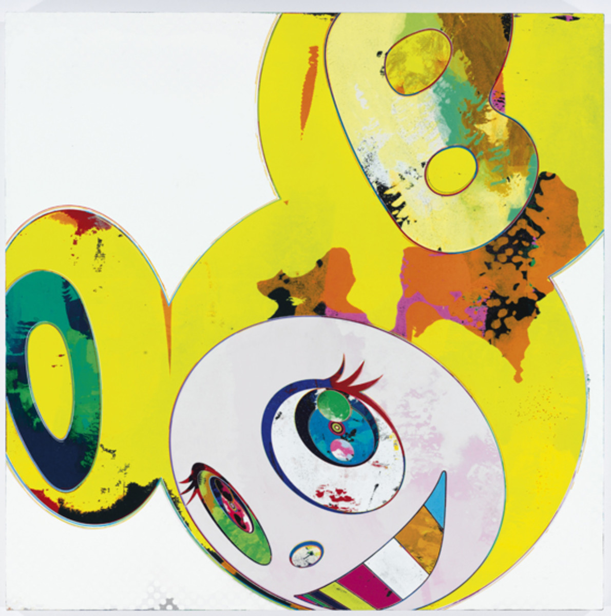 Takashi Murakami - And Then, And Then And Then And Then And Then. Yellow Universe(C)2011 Kaikai Kiki Co., Ltd. All rights reserved