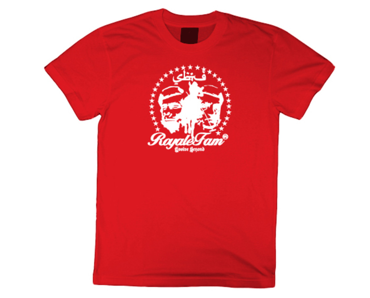 Royalefam - Original Hand Printed College T-Shirt - St. John (Away)