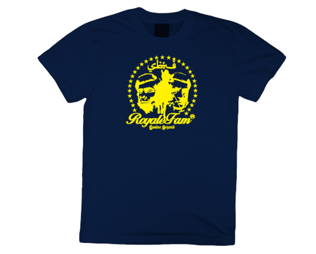 Royalefam - Original Hand Printed College T-Shirt - Michigan (Away)