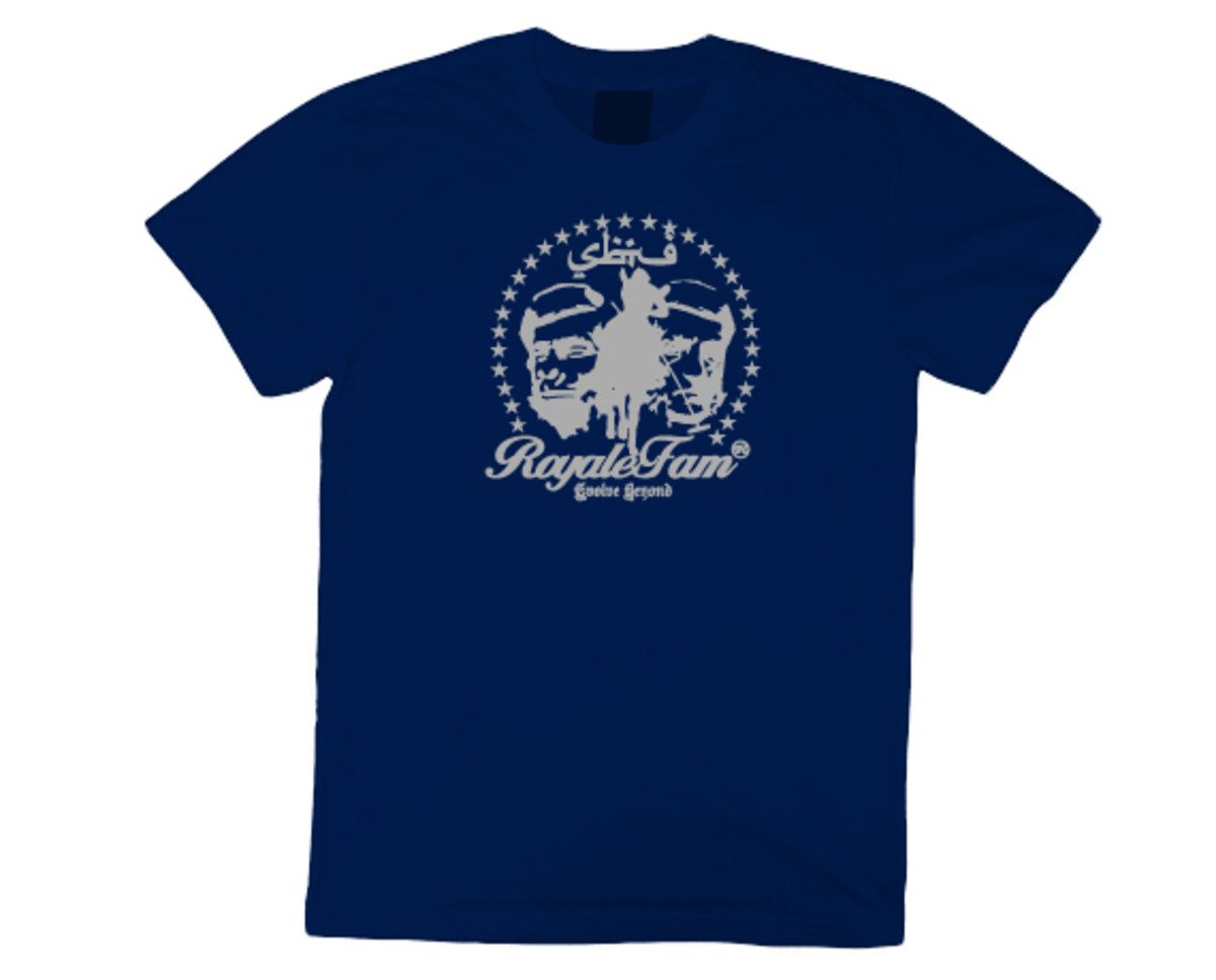 Royalefam - Original Hand Printed College T-Shirt - Georgetown (Away)