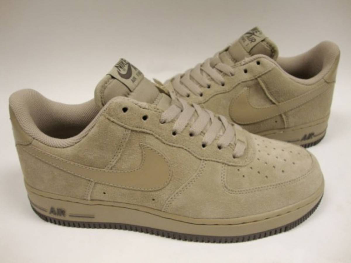 nike air force 1 khaki suede freshness mag. Black Bedroom Furniture Sets. Home Design Ideas