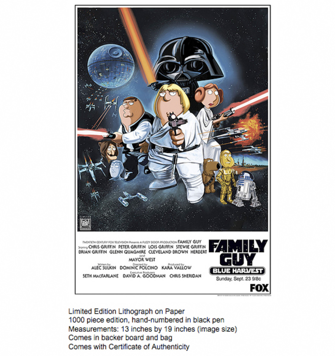 Spectacular: Family Guy C.R.A.P. Show - Blue Harvest Poster - Lithograph