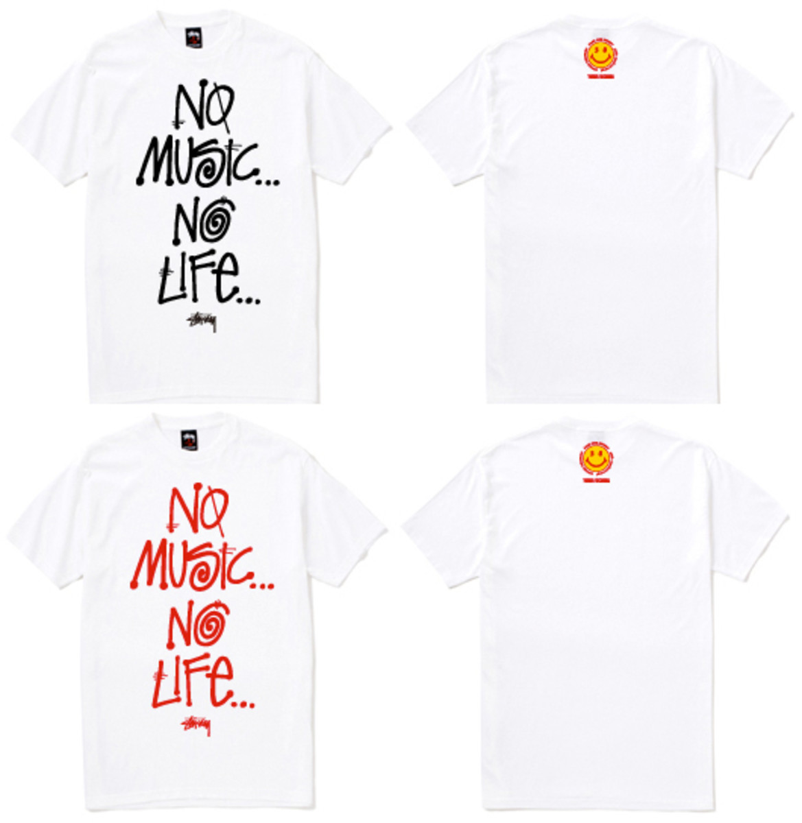 "Stussy x TOWER RECORDS Japan - 30th Anniversary ""No Music No Life"" T-Shirt (Stussy Edition)"