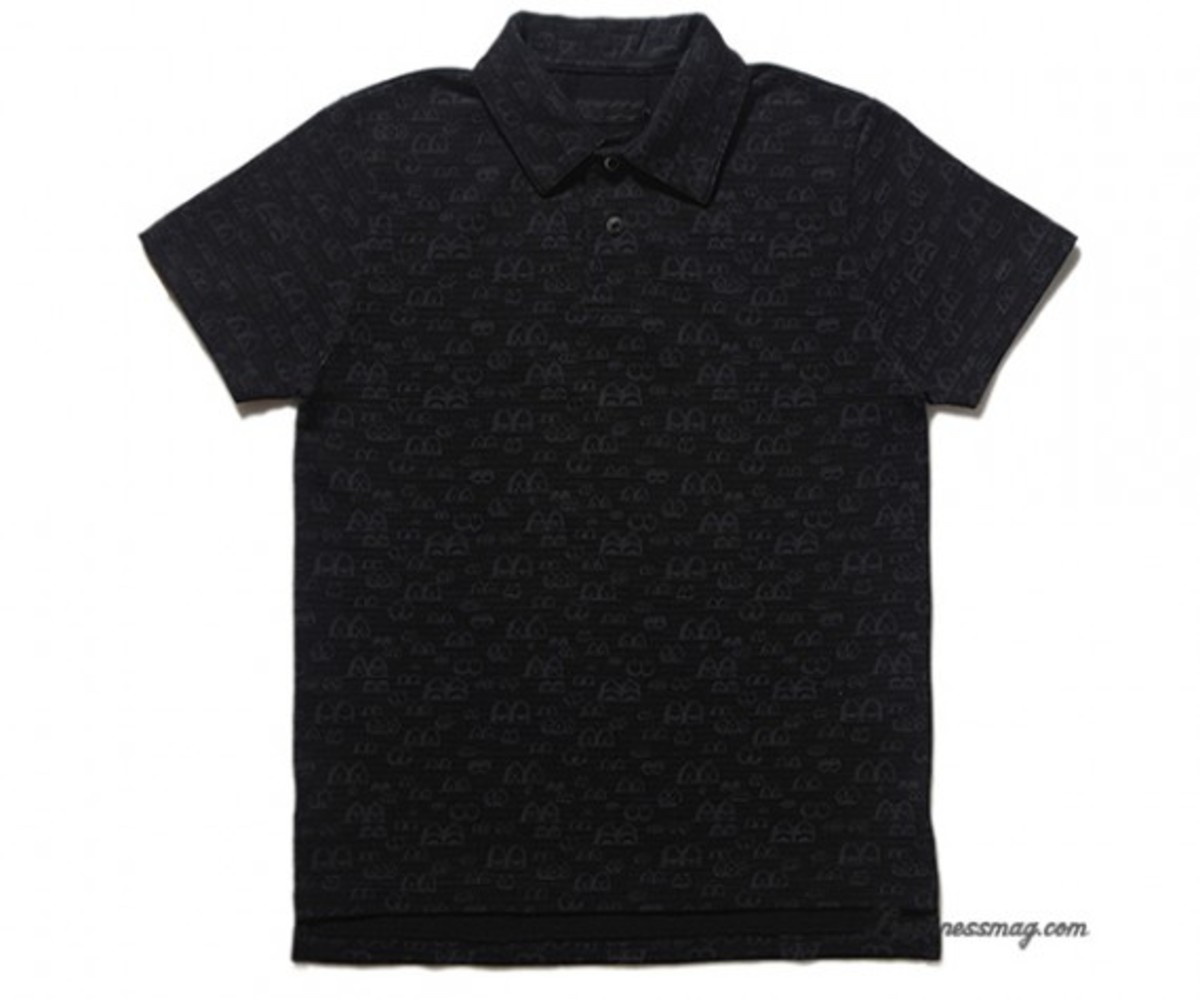 OriginalFake - Eyes Pattern Polo - Black
