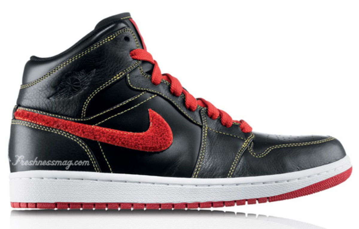 Air Jordan 1 Retro Phat Premier - Atlanta Hawks | Release Date: 12/01/09 | Color: Black/Varsity Red-Varsity Maize