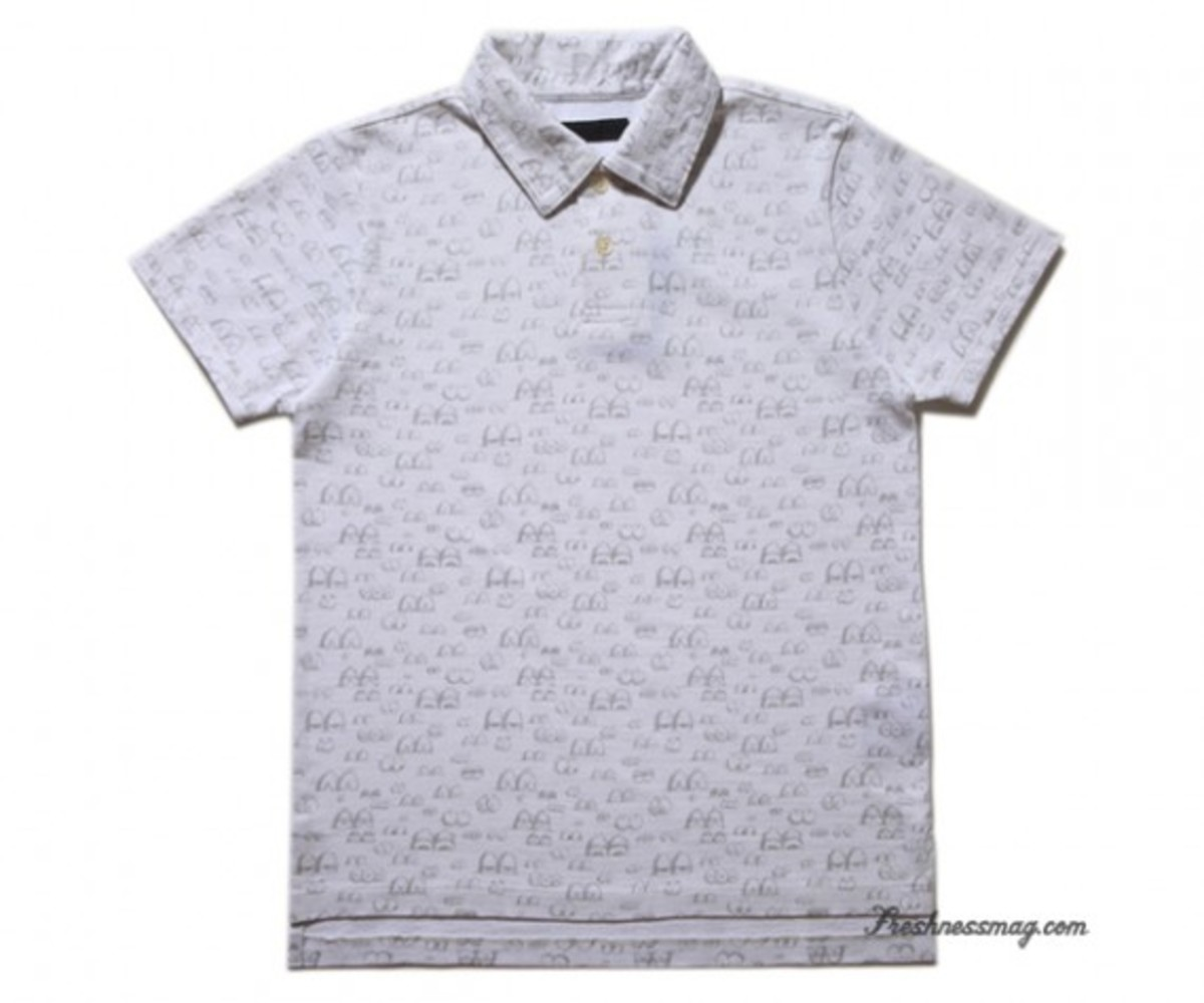 OriginalFake - Eyes Pattern Polo - White