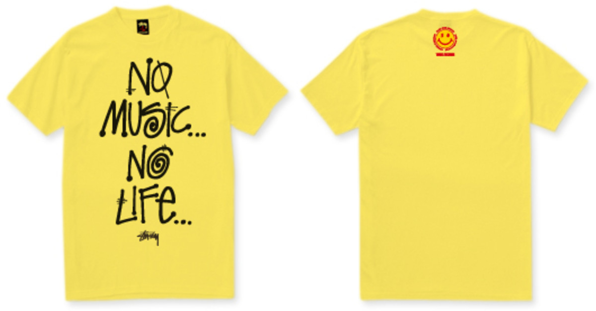 "Stussy x TOWER RECORDS Japan - 30th Anniversary ""No Music No Life"" T-Shirt (TOWER Edition)"