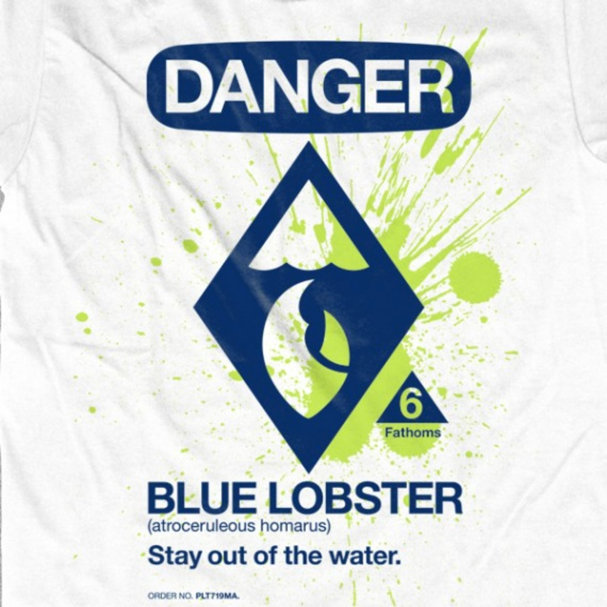 CONCEPTS Boston - Danger Blue Lobster Limited T-Shirt - Front 01