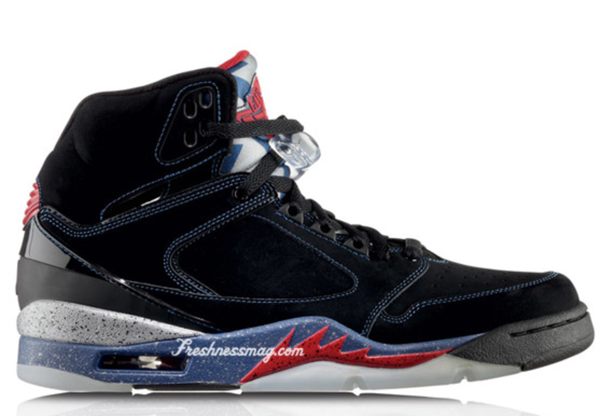 Air Jordan Sixty Plus - Detroit Pistons | Release Date: 12/05/09 | Color: Black/Varsity Red-French Blue