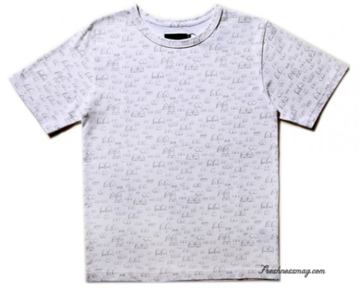 OriginalFake - Eyes Pattern T-Shirt - White