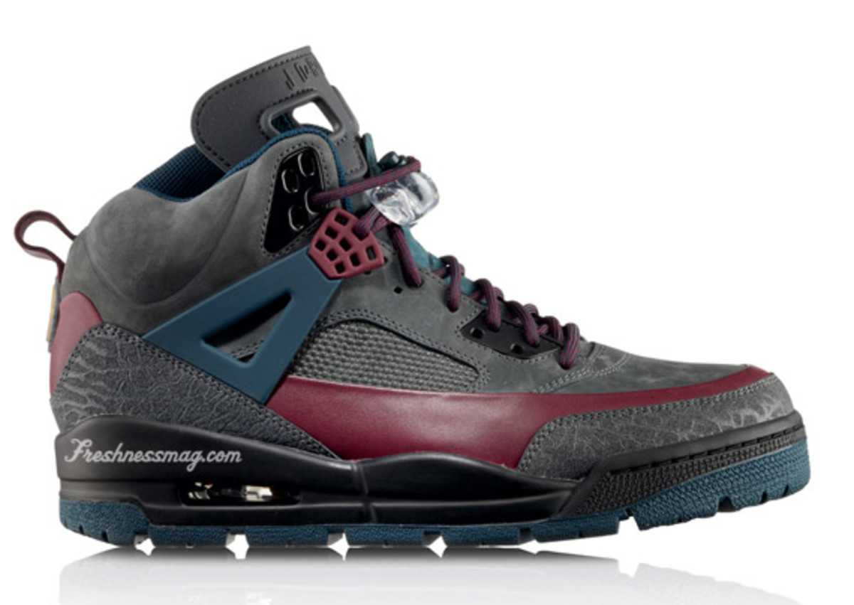 Air Jordan - Winterized Spiz'ike Boot | Release:  12/01/09 | Color: Flint Grey/Cherrywood Red