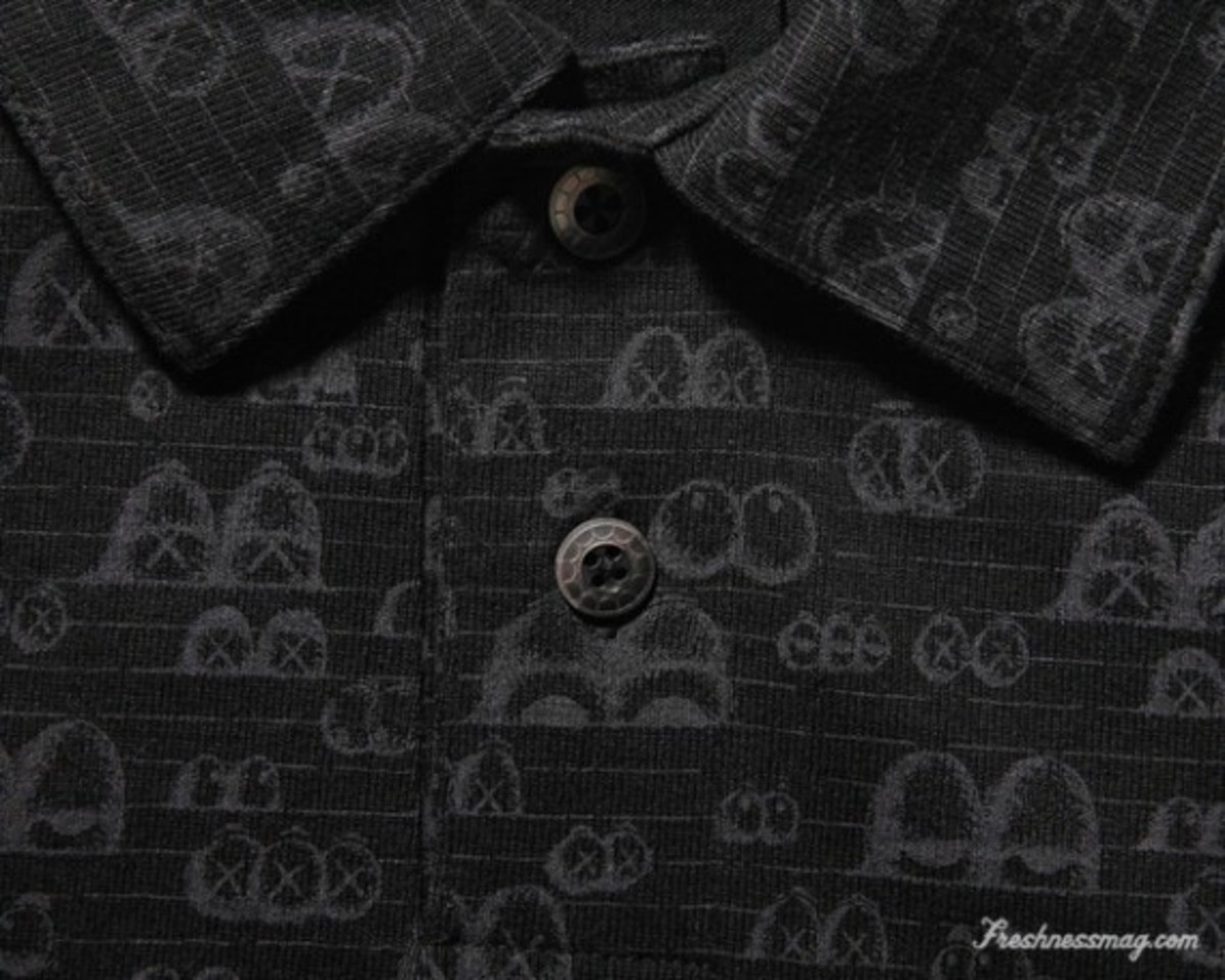 OriginalFake - Eyes Pattern Polo - Black (Detail)