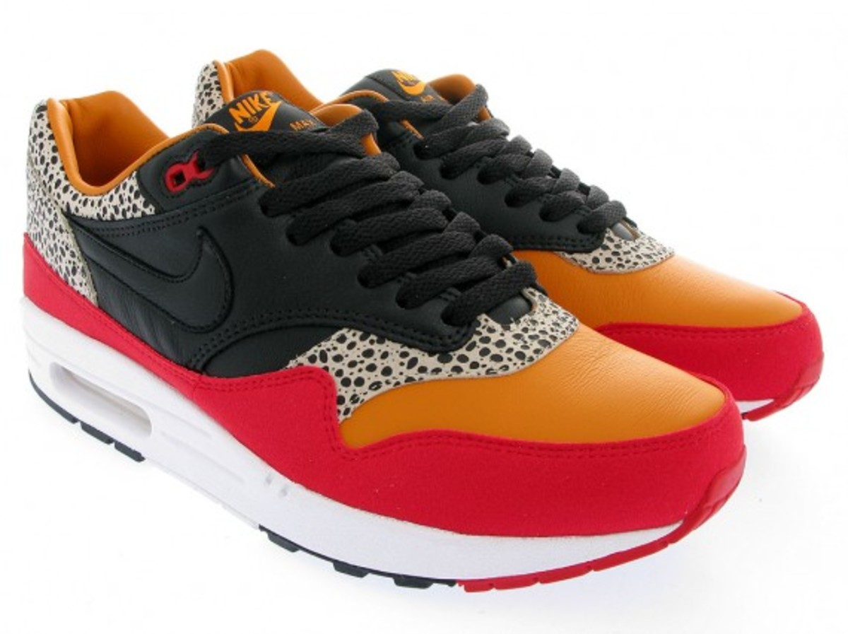 Nike Sportswear - Air Max 1 Premium SP - Carrot Black-Sport Red ... 3b867a11c