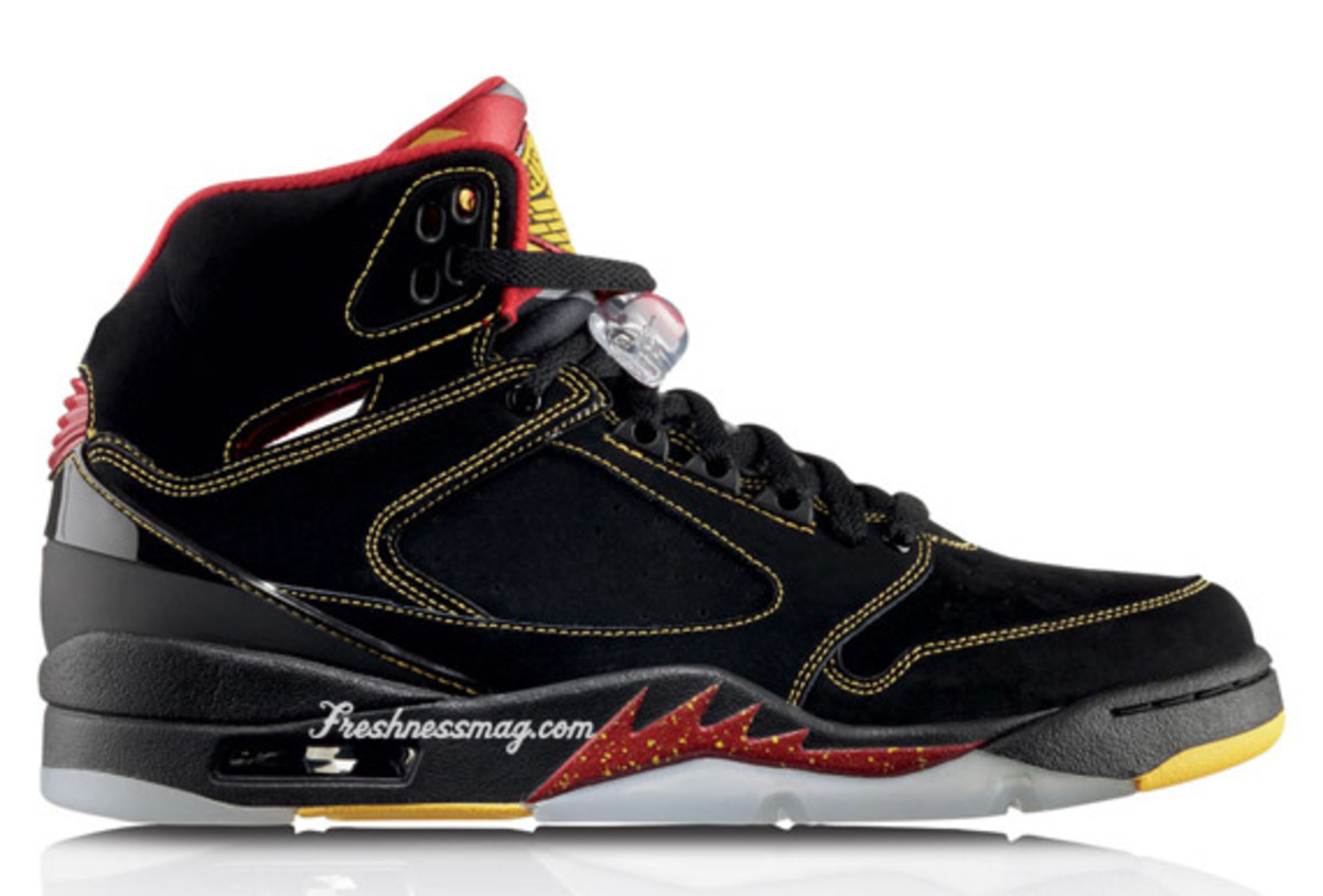 Air Jordan Sixty Plus - Atlanta Hawks | Release Date: 10/10/09 | Color: Black/Varsity Maize-Varsity Red