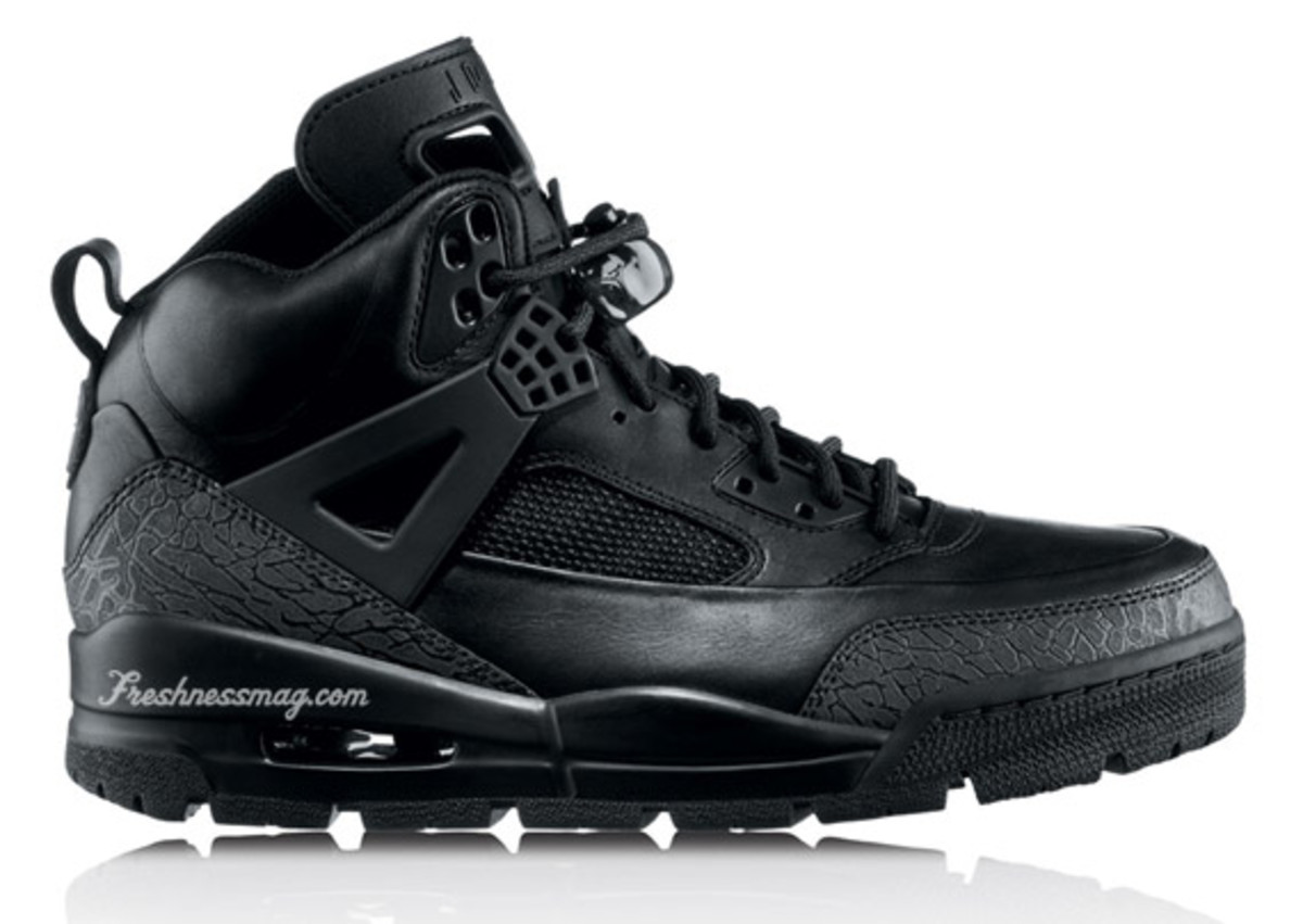 Air Jordan - Winterized Spiz'ike Boot | Release:  11/01/09 Color: Black/Anthracite