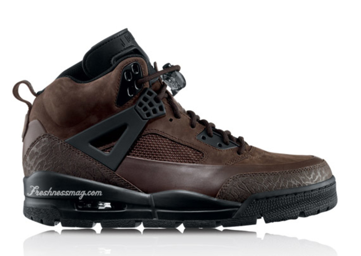 Air Jordan - Winterized Spiz'ike Boot | Release:  10/01/09 | Color: Dark Cinder/Black