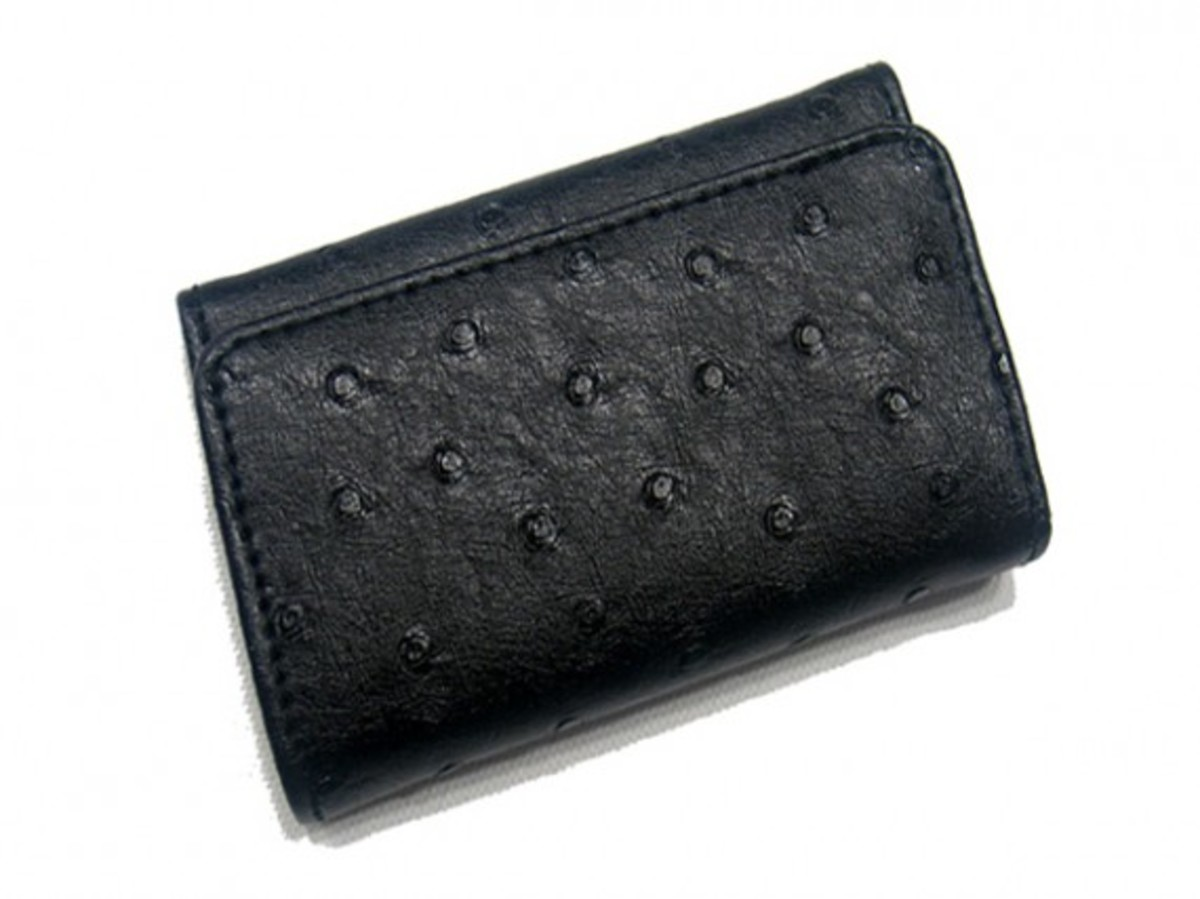 Play Cloths - Leather Accessories - Ostrich Bi-Fold Wallet