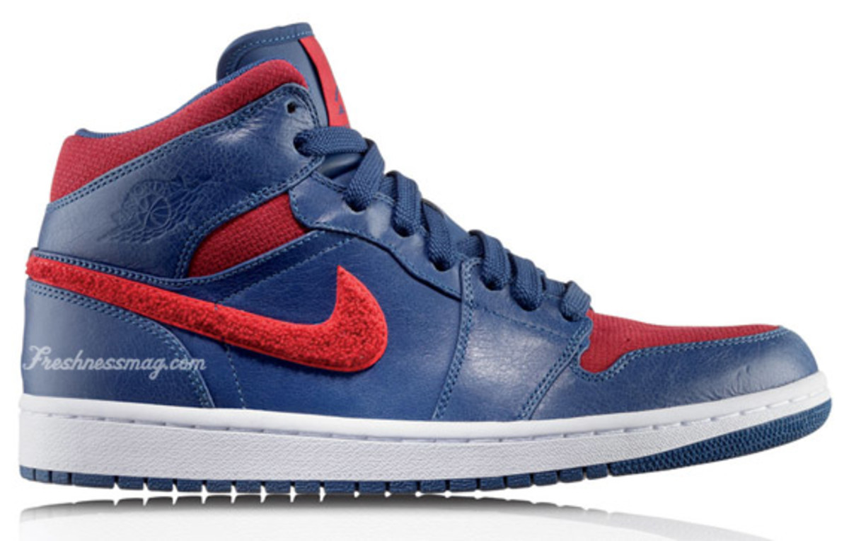 Air Jordan 1 Retro Phat Premier - Detroit Pistons | Release Date: 10/01/09 | Color: French Blue/Varsity Red