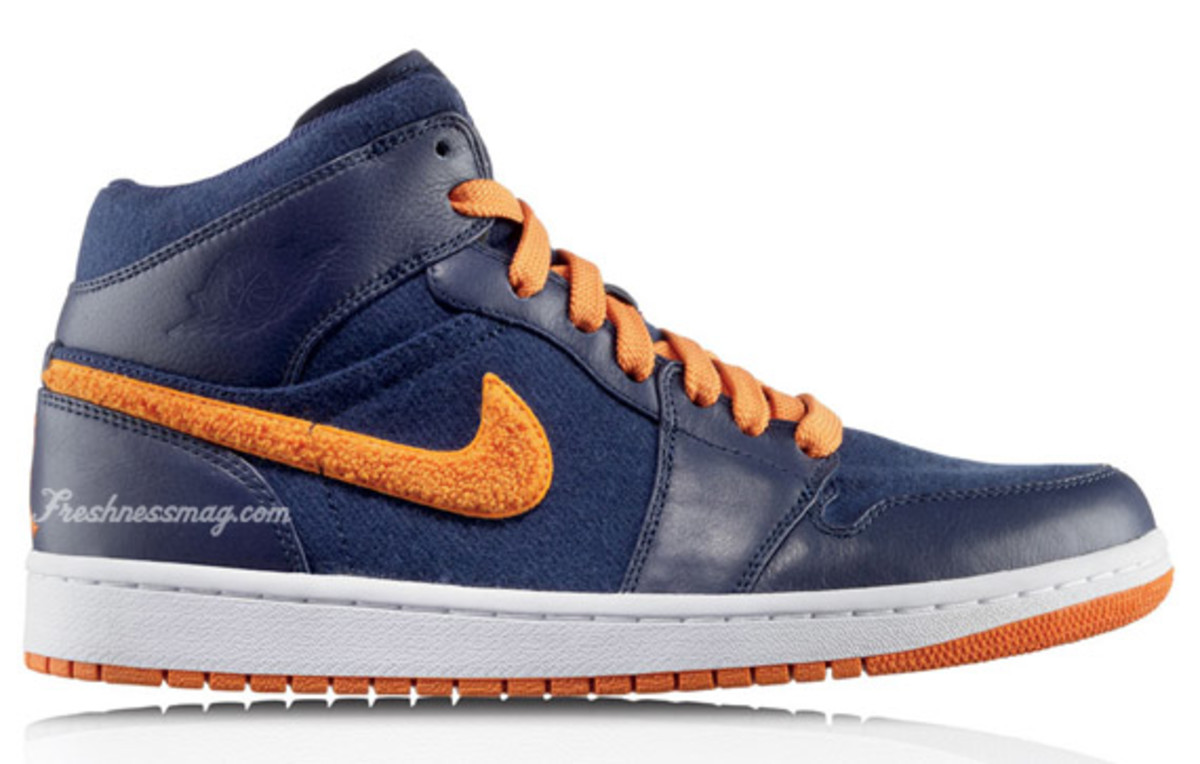 Air Jordan 1 Retro Phat Premier - Cleveland Cavaliers | Release Date: 11/01/09 | Color: Midnight Navy/Ceramic