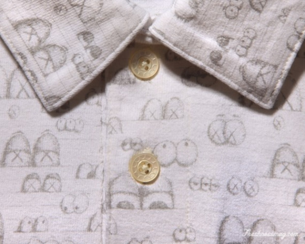 OriginalFake - Eyes Pattern Polo - White (Detail)