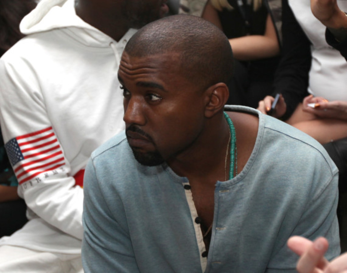 Fresh Celeb: Kanye West Front Row at HOOD BY AIR Runway Show - 0