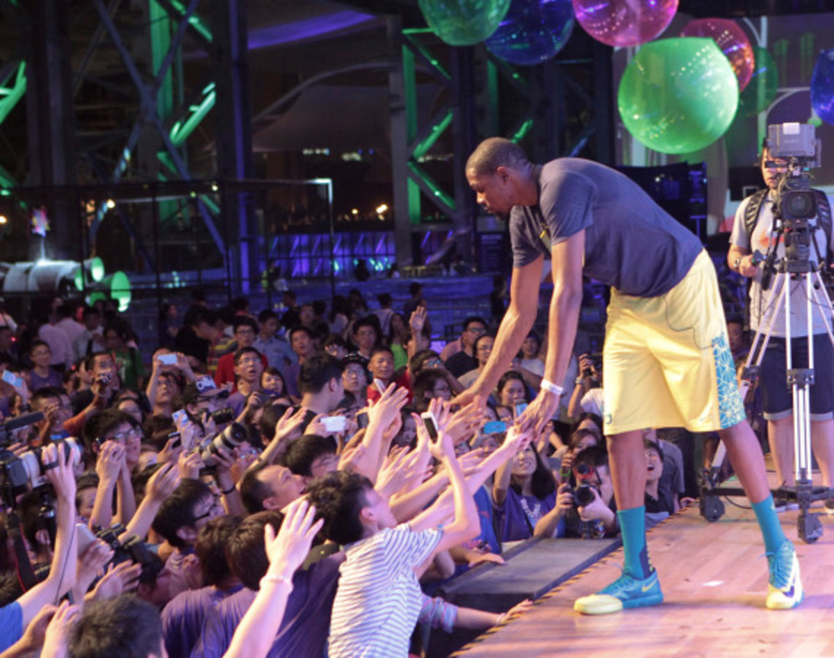 Nike Summer Nights Shanghai - Opening Ceremony with Kevin Durant and Li Na - 5