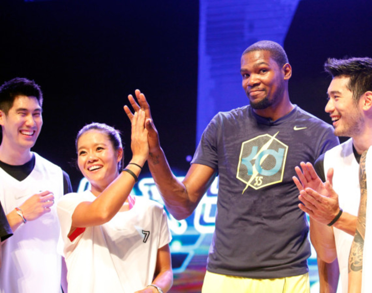 Nike Summer Nights Shanghai - Opening Ceremony with Kevin Durant and Li Na - 9