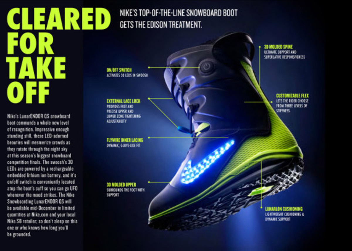 "Nike Snowboarding - LunarENDOR QS Snowboard Boot | ""Light Up The Slopes, Literally"" - 8"