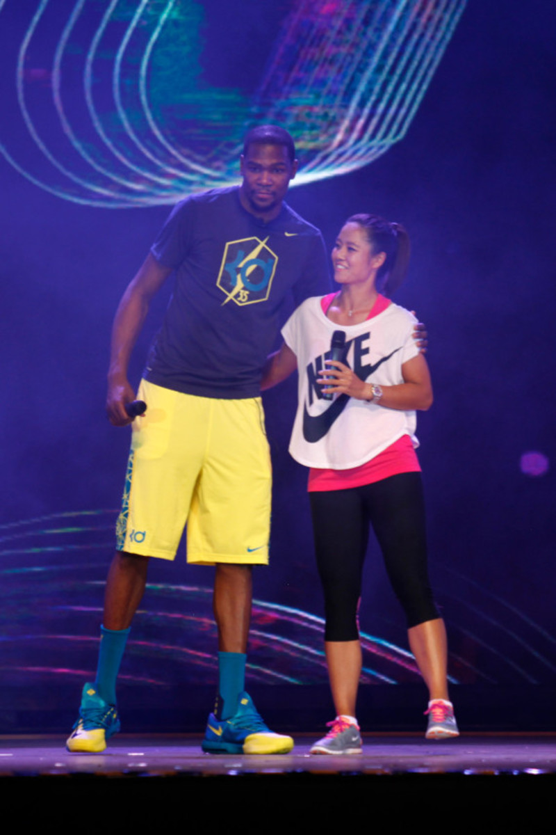 Nike Summer Nights Shanghai - Opening Ceremony with Kevin Durant and Li Na - 3