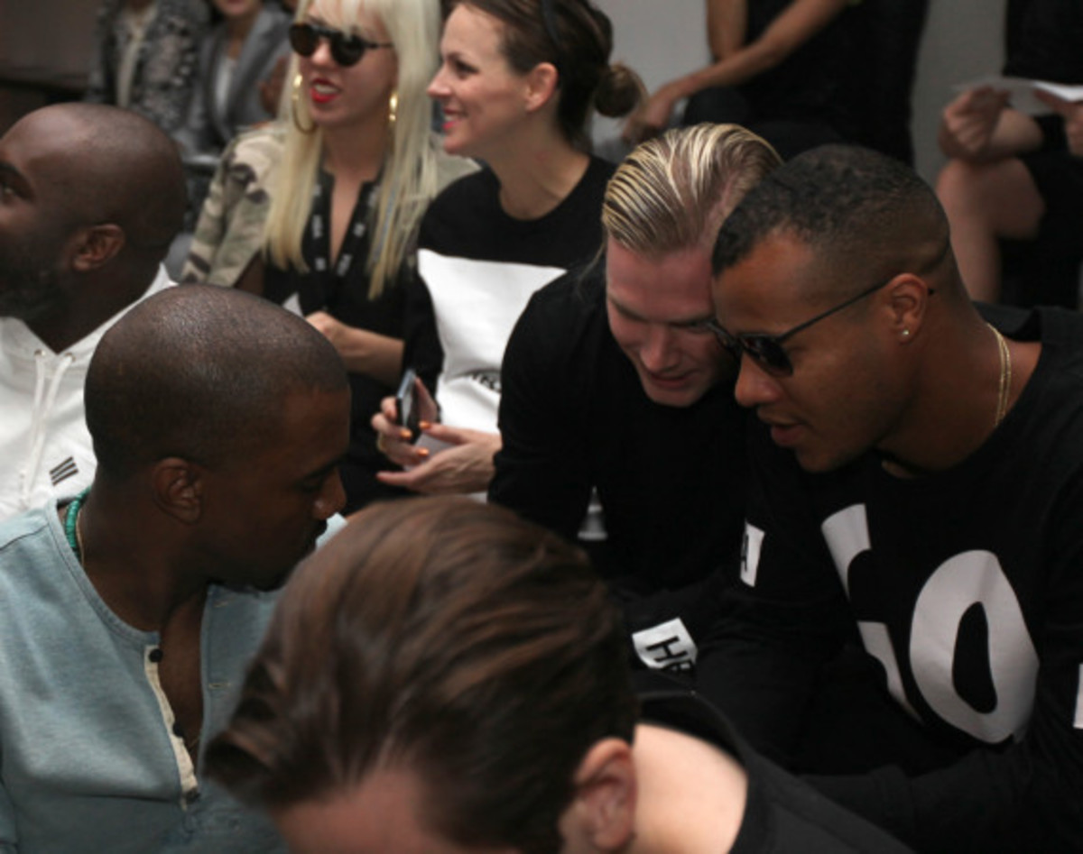 Fresh Celeb: Kanye West Front Row at HOOD BY AIR Runway Show - 3