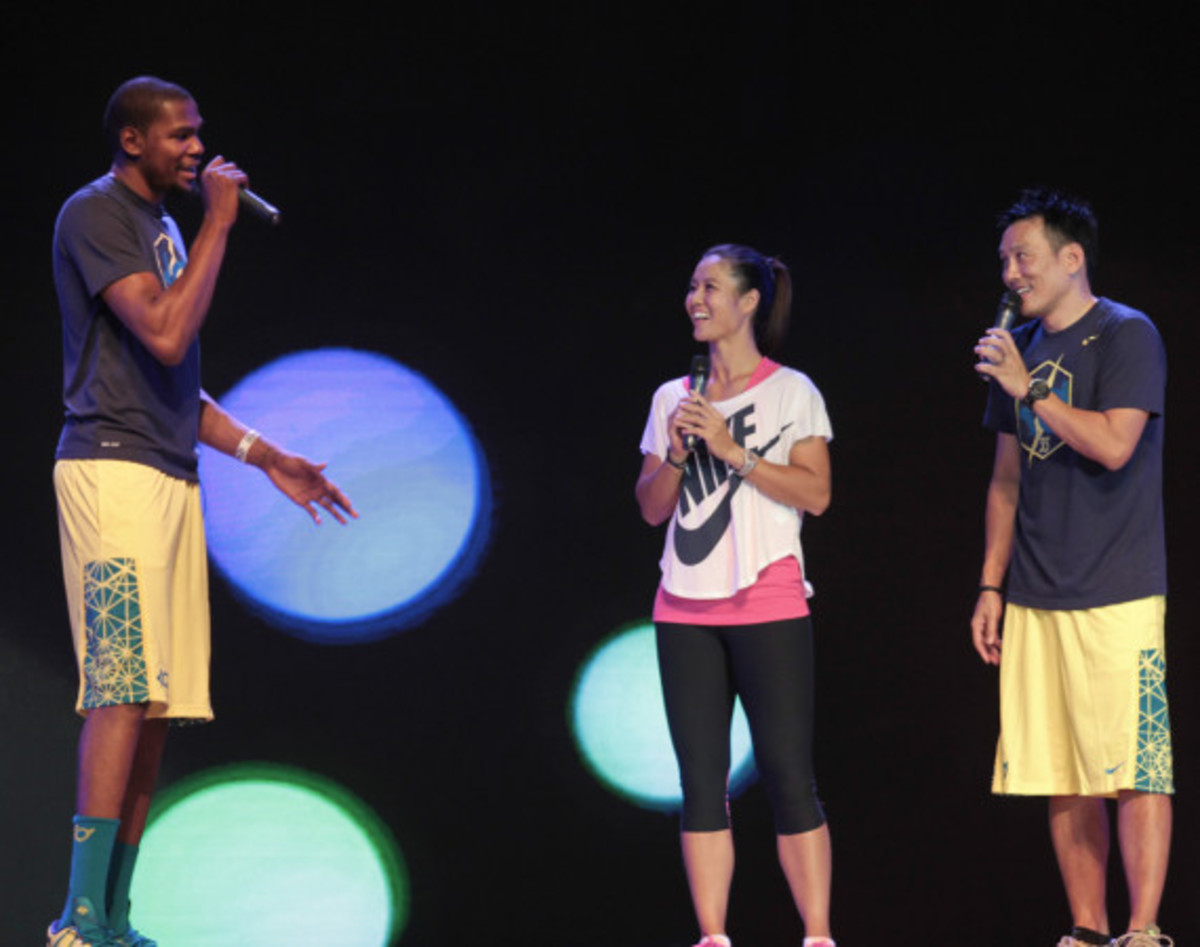 Nike Summer Nights Shanghai - Opening Ceremony with Kevin Durant and Li Na - 4