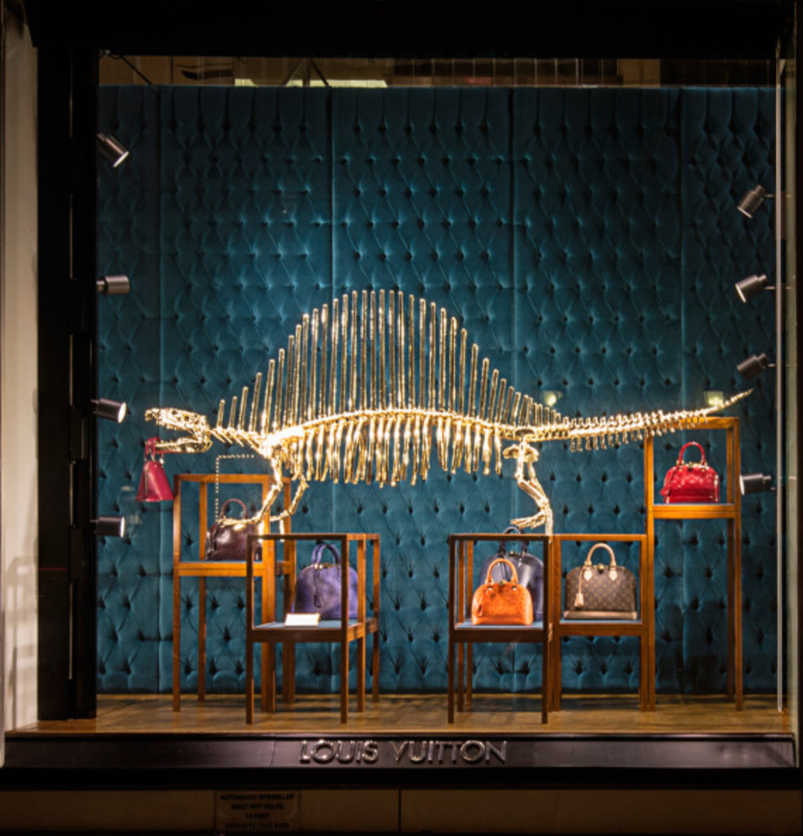 Dinosaurs Invade Louis Vuitton's 5th Avenue Maison Windows | NYC - 5