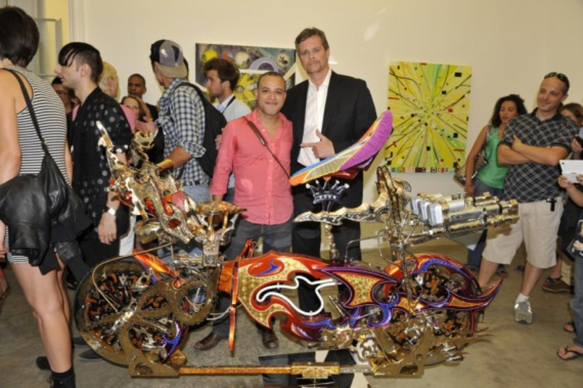 Nike x LIVESTRONG - STAGES Art Exhibition Opening Event - DZINE & Nike CEO Mark Parker