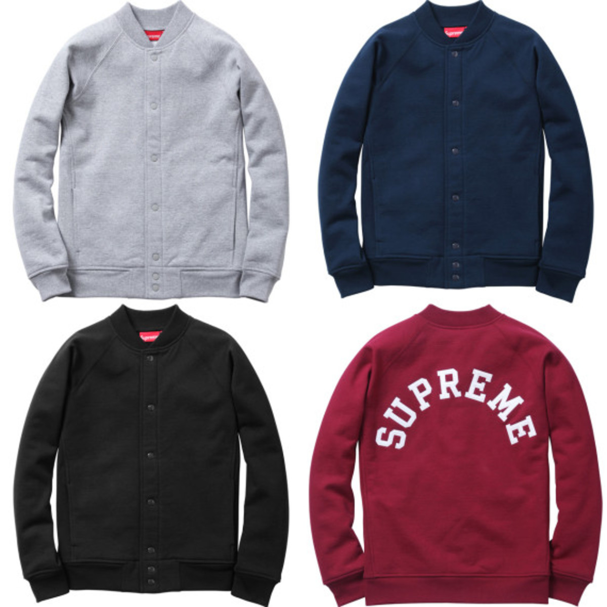 Supreme - Snap Front Arc Logo Sweatshirt | Available Now - 0