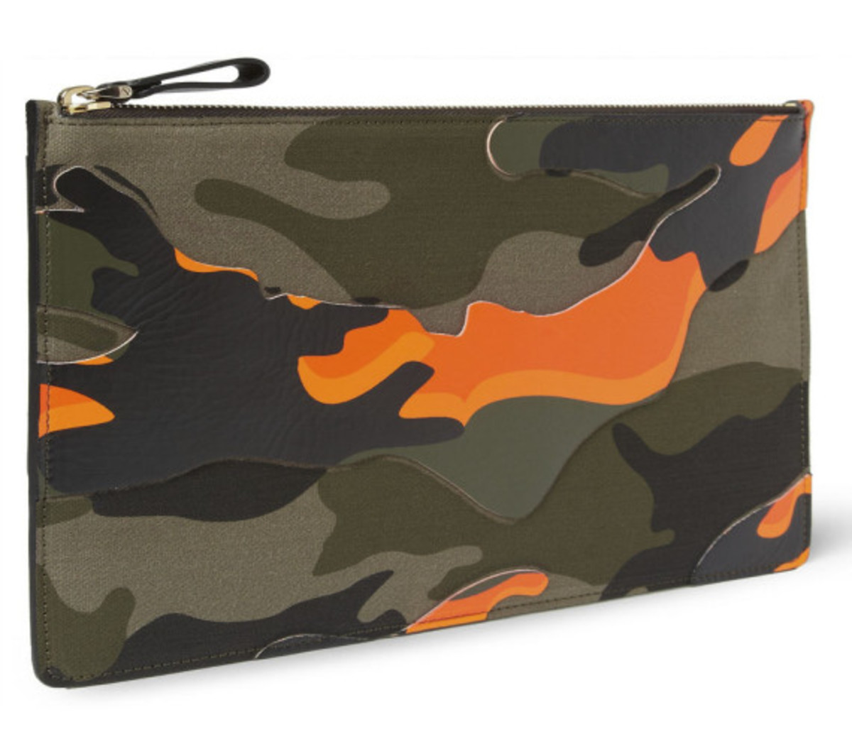 Valentino – Camouflage-Print Leather and Canvas Pouch - 0