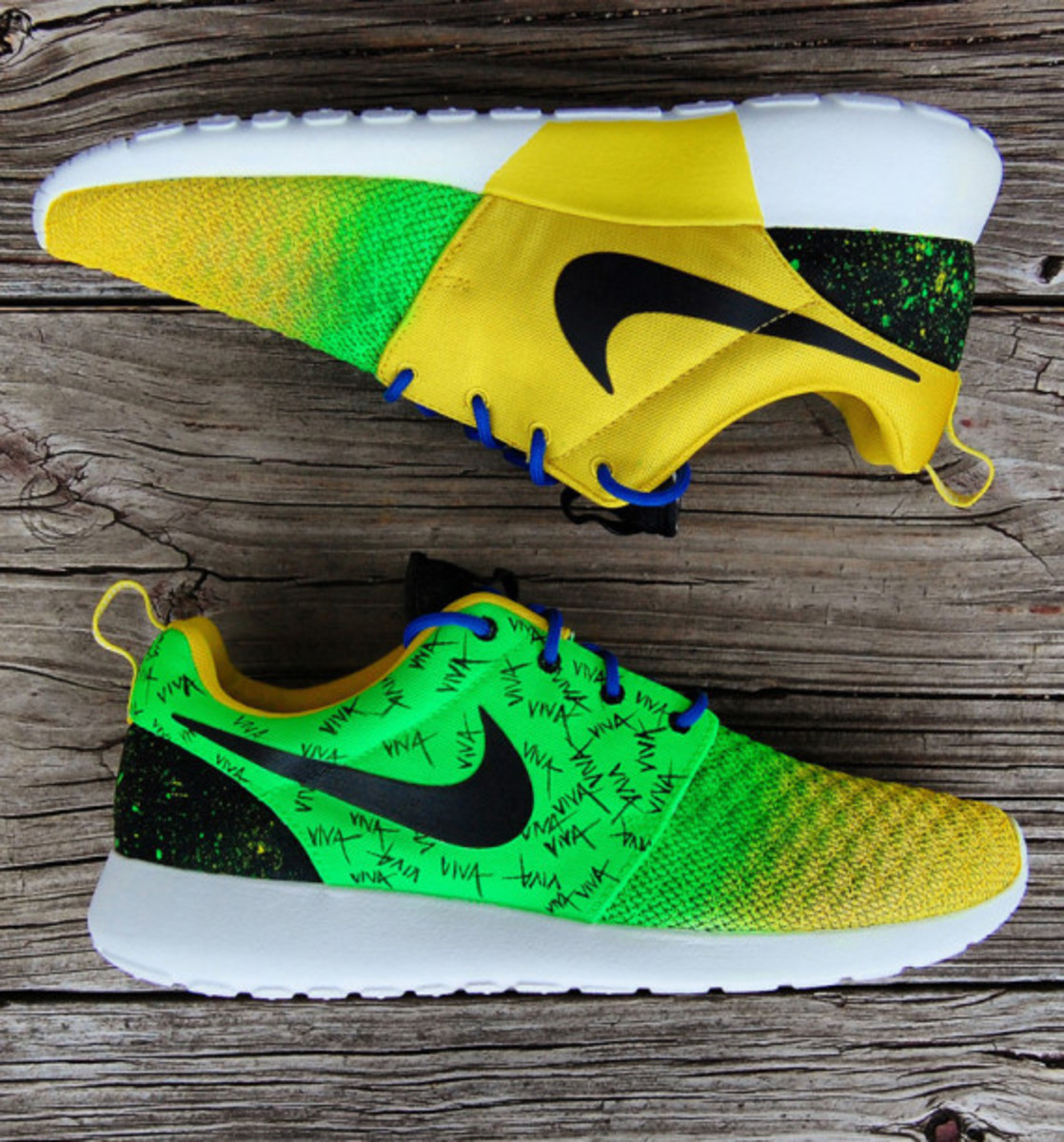 "Nike Roshe Run - ""Viva Brazil"" Customs by Gourmet Kickz - 7"