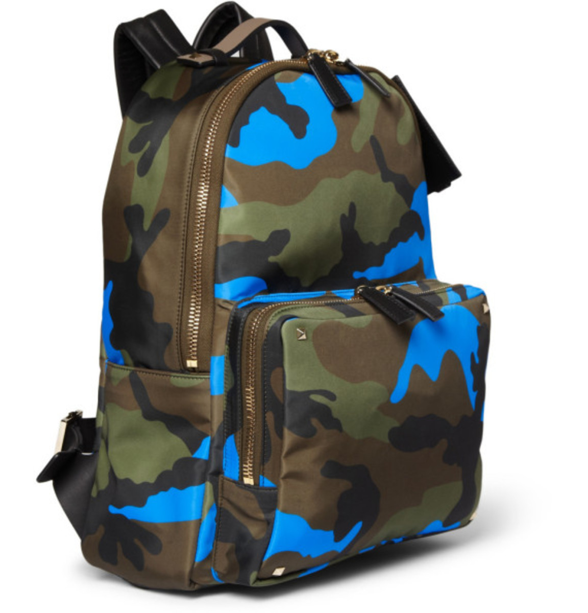Valentino – Camouflage-Print Leather and Canvas Backpack - 0