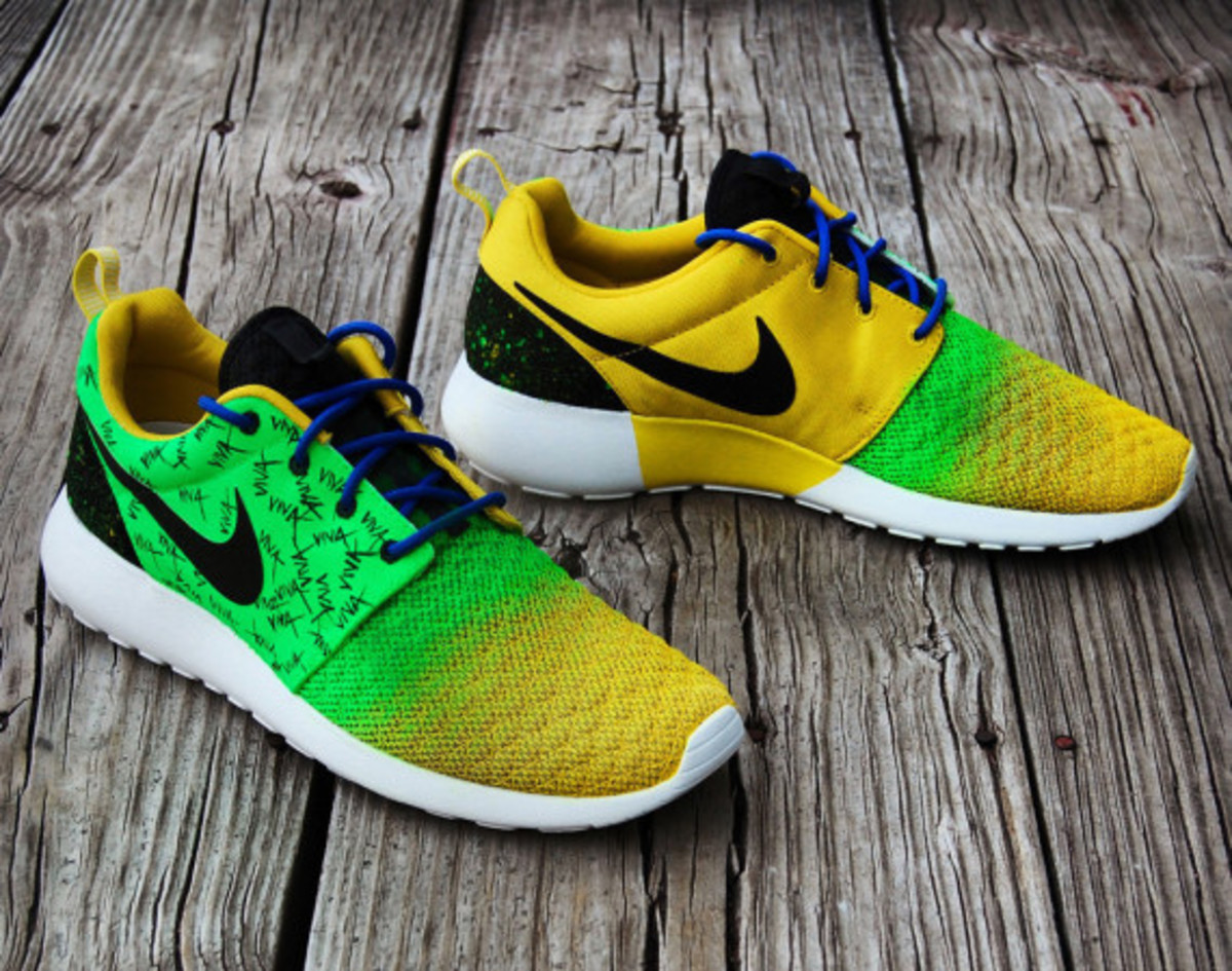 "Nike Roshe Run - ""Viva Brazil"" Customs by Gourmet Kickz - 3"