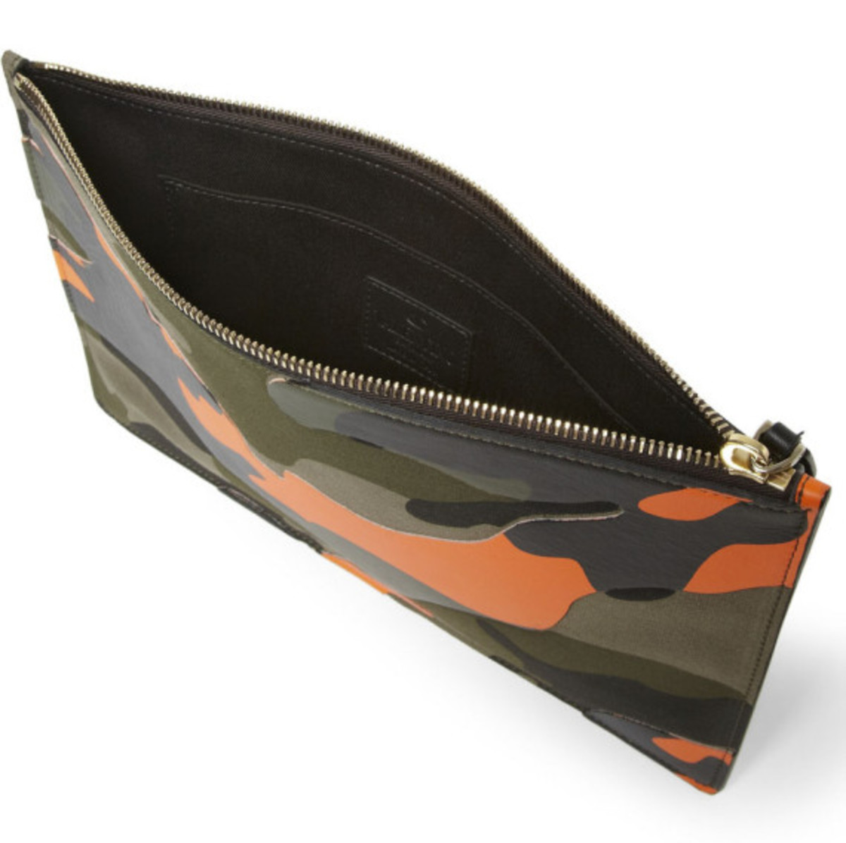 Valentino – Camouflage-Print Leather and Canvas Pouch - 2