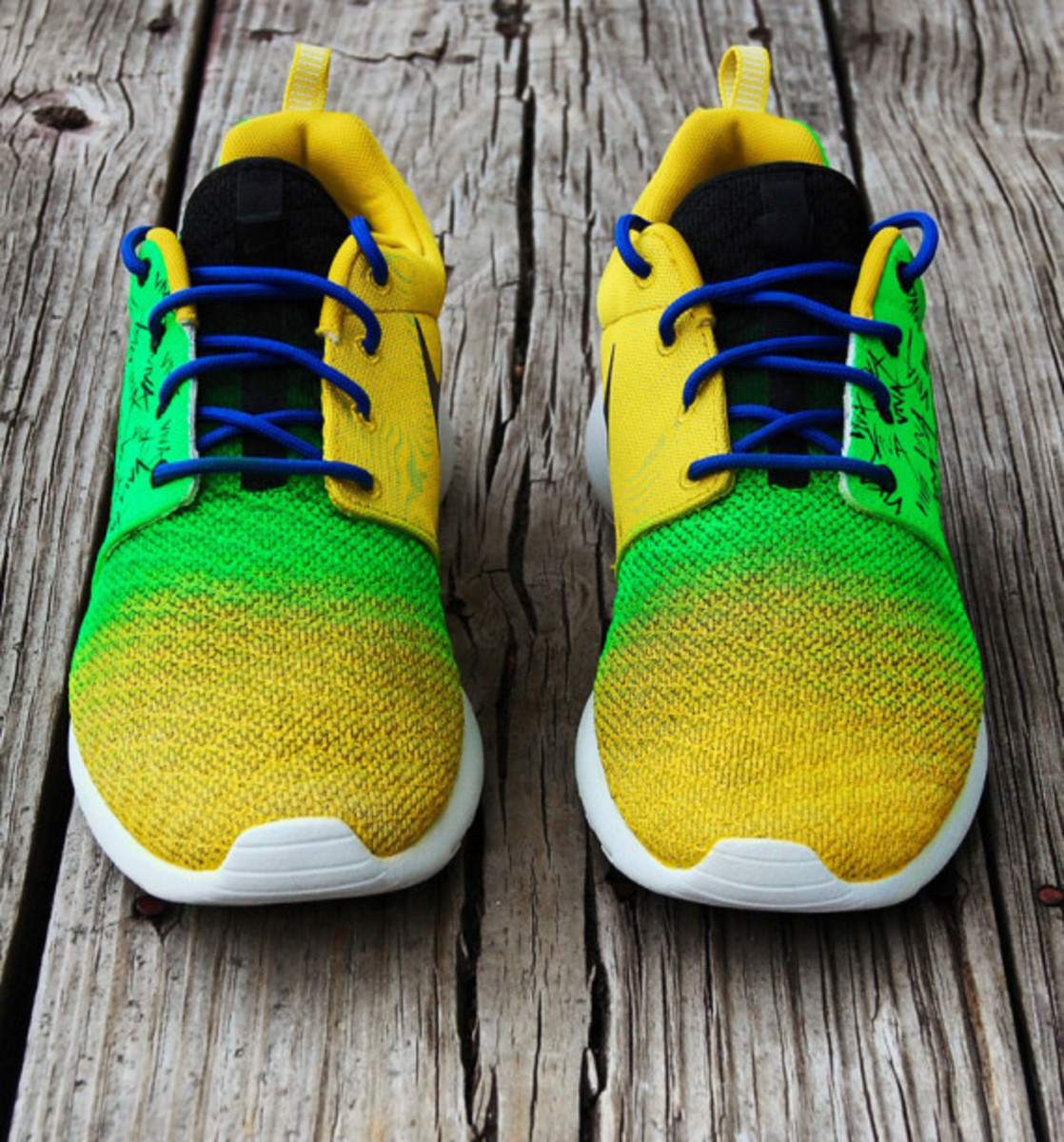 "Nike Roshe Run - ""Viva Brazil"" Customs by Gourmet Kickz - 4"